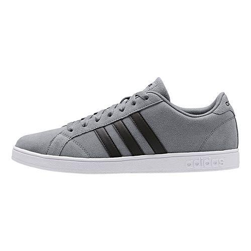 Mens adidas Baseline Casual Shoe - Grey/Core Black 12.5