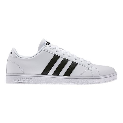 Mens adidas Baseline Casual Shoe - White/Core Black 10