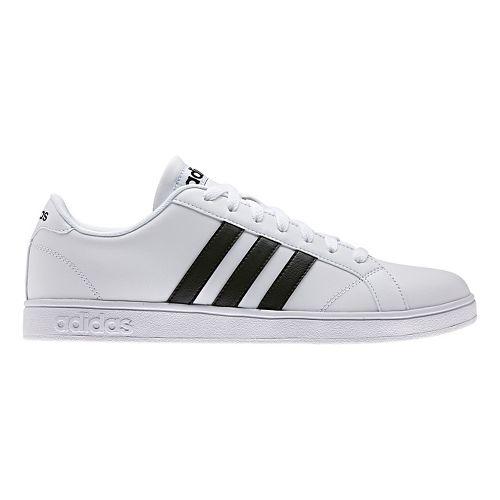 Mens adidas Baseline Casual Shoe - White/Core Black 7.5