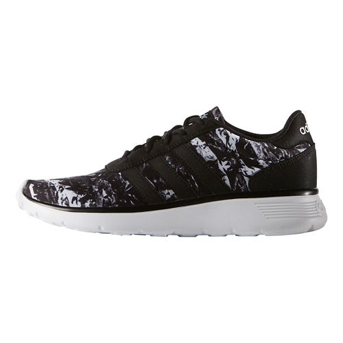 Womens adidas Lite Racer Casual Shoe - Black/White 8