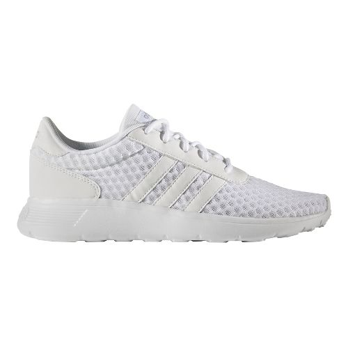 Womens adidas Lite Racer Casual Shoe - White/Silver 6.5