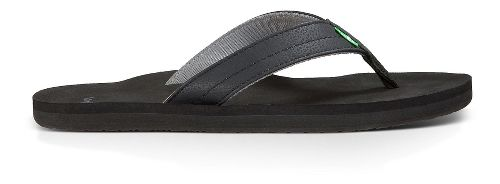 Mens Sanuk Burm Sandals Shoe - Black Charcoal 9