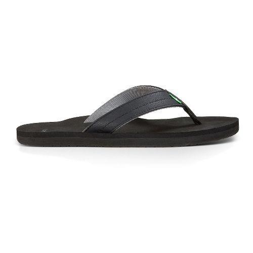 Mens Sanuk Burm Sandals Shoe - Black Charcoal 7