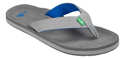 Mens Sanuk Burm Sandals Shoe - Grey/Lt. Grey 13