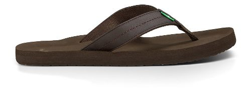 Mens Sanuk Burm Sandals Shoe - Brown 10