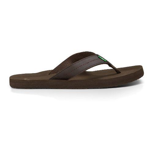 Mens Sanuk Burm Sandals Shoe - Brown 13