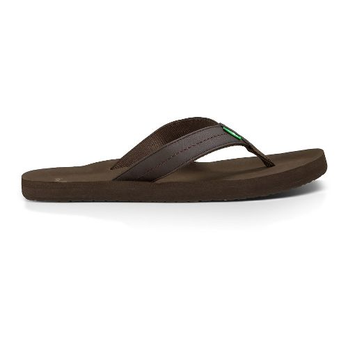 Mens Sanuk Burm Sandals Shoe - Brown 14