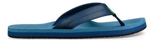 Mens Sanuk Burm Sandals Shoe - Navy 8