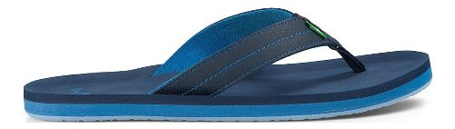 Mens Sanuk Burm Sandals Shoe - Ocean 13