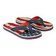 Mens Sanuk Burm Patriot Sandals Shoe