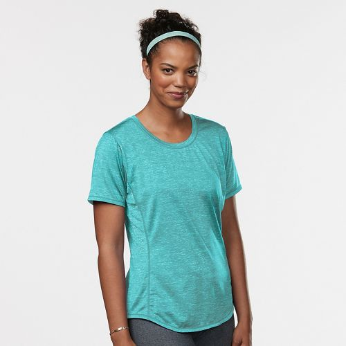 Womens Road Runner Sports Fast and Fab Short Sleeve Technical Tops - Oasis L