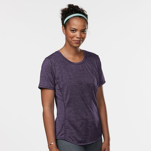 Womens Road Runner Sports Fast and Fab Short Sleeve Technical Tops - Let's Jam S