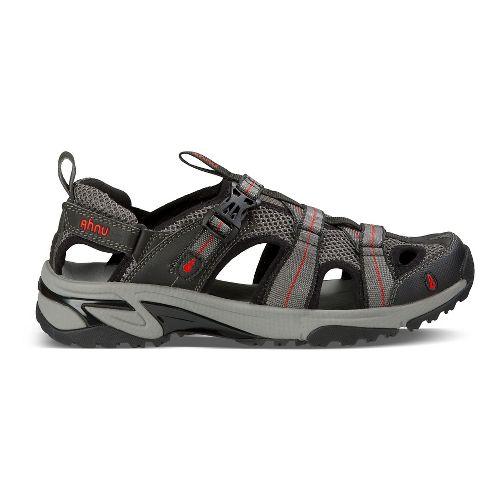 Mens Ahnu Del Rey Sandals Shoe - Smoke Charcoal 9