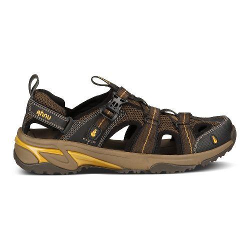 Mens Ahnu Del Rey Sandals Shoe - Smokey Brown 11
