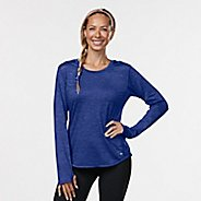 Womens Road Runner Sports Fast and Fab Long Sleeve Technical Tops - Sapphire XS