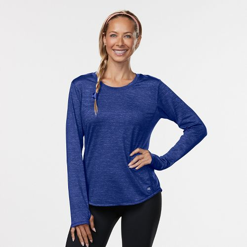 Womens Road Runner Sports Fast and Fab Long Sleeve Technical Tops - Sapphire L