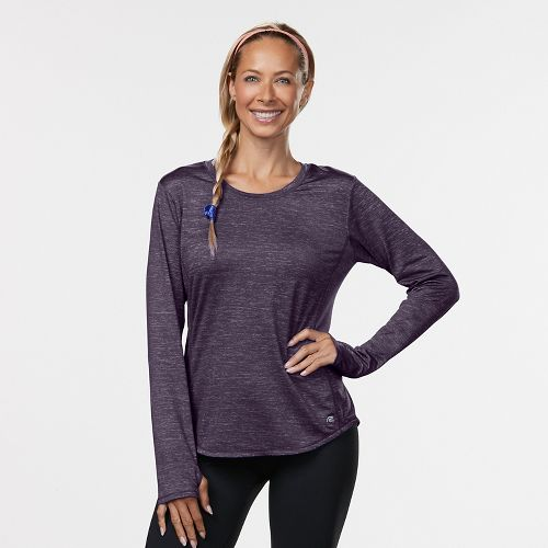 Womens Road Runner Sports Fast and Fab Long Sleeve Technical Tops - Let's Jam XS