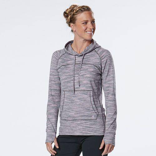 Womens R-Gear On the Move Printed Half-Zips & Hoodies Technical Tops - Grey Mist/Lily XL