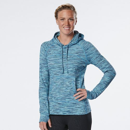 Womens R-Gear On the Move Printed Half-Zips & Hoodies Technical Tops - Midnight Blue/Marina M