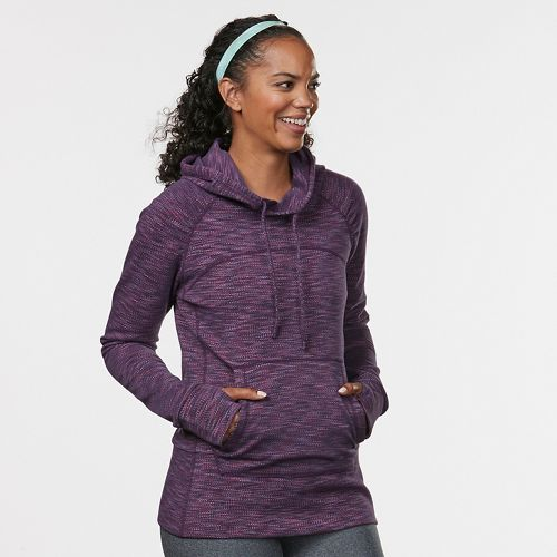 Womens Road Runner Sports On the Move Printed Hoodie & Sweatshirts Technical Tops - Ruby ...