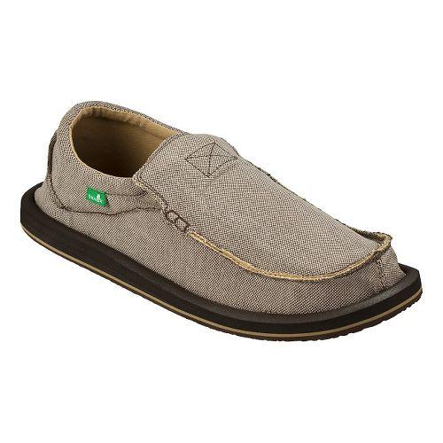 Mens Sanuk Chiba TX Casual Shoe - Brown/Natural 13