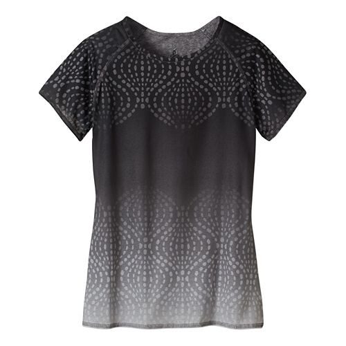 Womens Prana Luca Tee Short Sleeve Technical Tops - Black XS