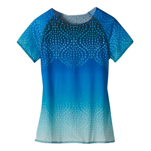 Womens Prana Luca Tee Short Sleeve Technical Tops - Electro Blue XS