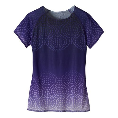 Womens Prana Luca Tee Short Sleeve Technical Tops - Ultra Violet XS