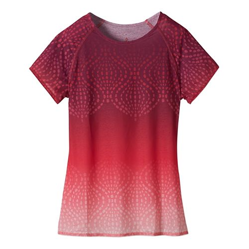 Womens Prana Luca Tee Short Sleeve Technical Tops - Azalea S