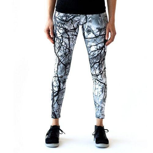 Womens Ahnu Rio Tights & Leggings Pants - White Branch S