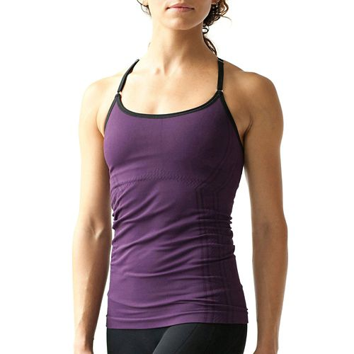 Womens Ahnu Lola Cami Sleeveless & Tank Technical Tops - Eggplant L