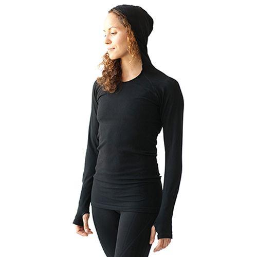 Womens Ahnu Selene Hoodie Technical Tops - Black L