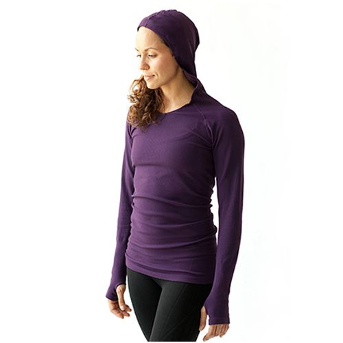 Womens Ahnu Selene Hoodie Technical Tops - Eggplant L