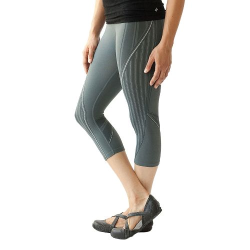 Womens Ahnu Hailey Capris Pants - Metallic Grey L