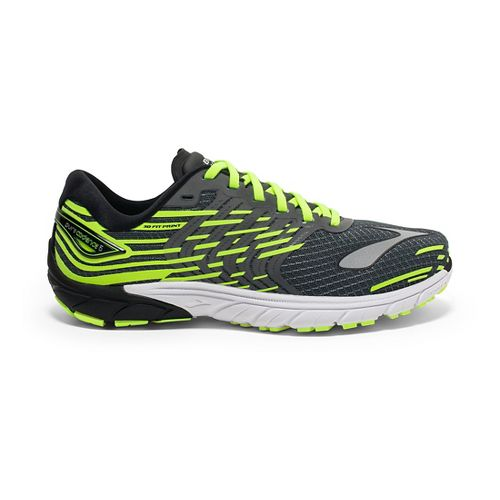 Mens Brooks PureCadence 5 Running Shoe - Safety Yellow/Silver 9