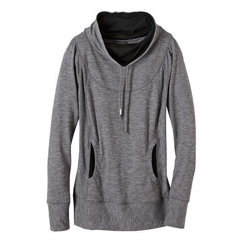 Womens prAna Ember Top Half-Zips & Hoodies Technical Tops - Black XL