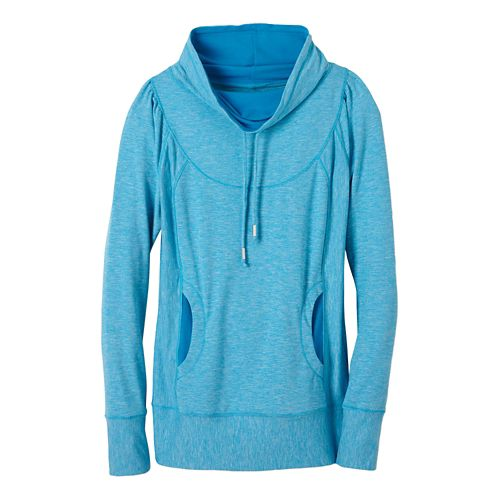 Womens prAna Ember Top Half-Zips & Hoodies Technical Tops - Electro Blue S