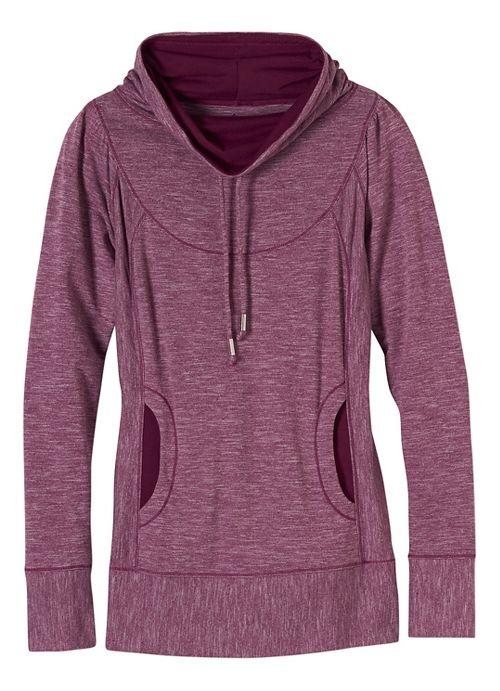 Womens prAna Ember Top Half-Zips & Hoodies Technical Tops - Purple L