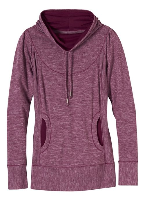 Womens prAna Ember Top Half-Zips & Hoodies Technical Tops - Purple XL