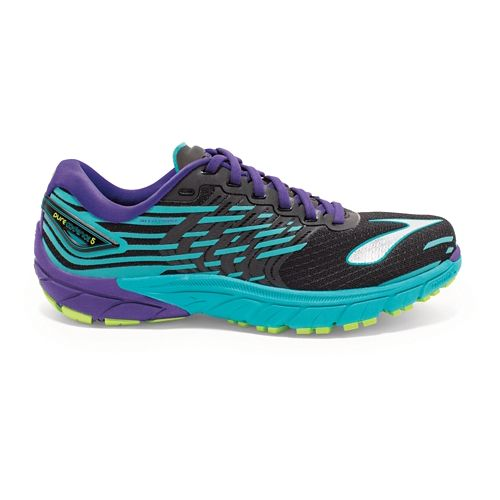 Womens Brooks PureCadence 5 Running Shoe - Black/Violet 5.5