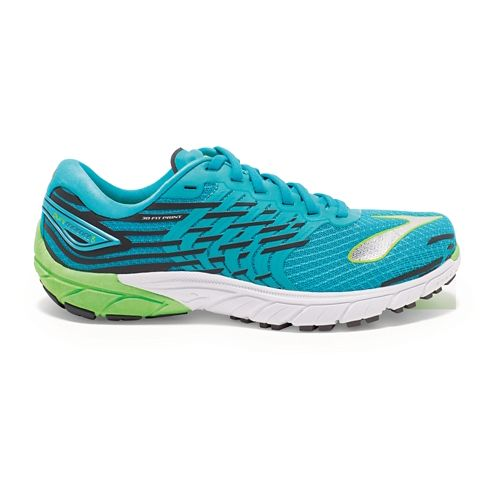 Womens Brooks PureCadence 5 Running Shoe - Blue/Green 6.5