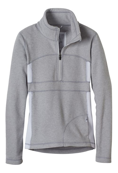 Womens prAna Drea Half -Zips & Hoodies Technical Tops - Silver XL