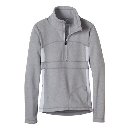 Womens prAna Drea Half -Zips & Hoodies Technical Tops - Silver L
