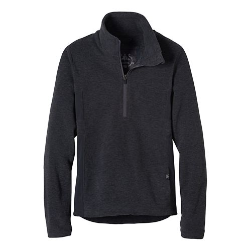 Womens prAna Drea Half -Zips & Hoodies Technical Tops - Coal S