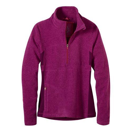 Womens prAna Drea Half -Zips & Hoodies Technical Tops - Purple L