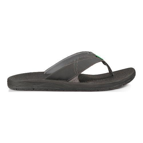 Mens Sanuk Latitude Sandals Shoe - Black 11