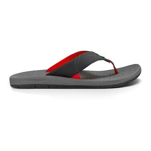 Mens Sanuk Latitude Sandals Shoe - Black/Red 10