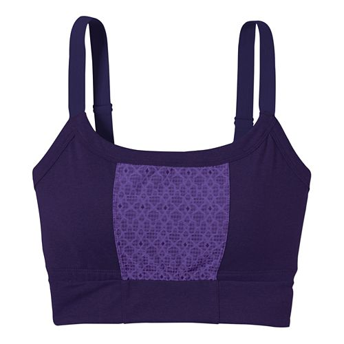 Womens Prana Petit Crop Top Sports Bras - Indigo M