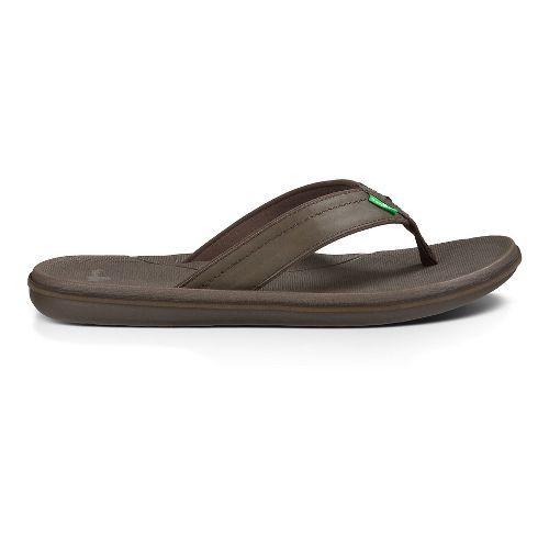 Mens Sanuk Planer Sandals Shoe - Brown 12