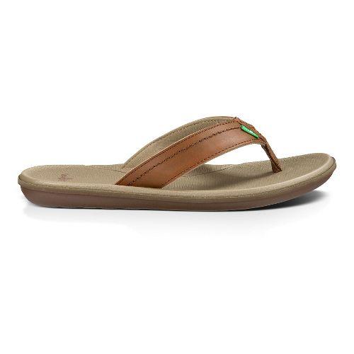 Mens Sanuk Planer Sandals Shoe - Tan 10